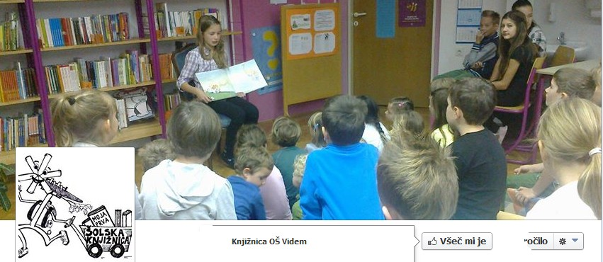 Facebook stran knjižnice OŠ Videm